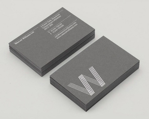 Silver / Grey business card design idea inspiration