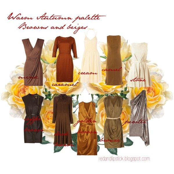 Warm Autumn palette 3 by carolgrant on Polyvore featuring Ports 1961, MARC BY MARC JACOBS, Lanvin, Bailey 44, Beyond Vintage, KaufmanFranco, Diane Von Furstenberg, FRUIT and colour palette