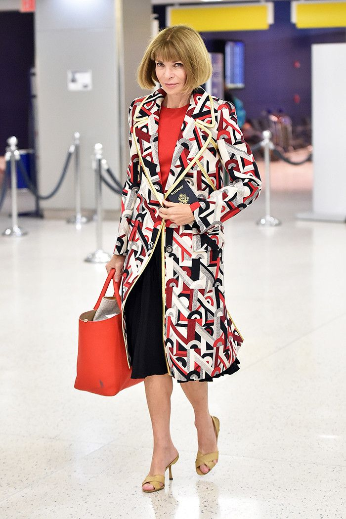 This Is What Anna Wintour Looks Like at the Airport via @WhoWhatWear