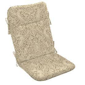 Garden Treasures Neutral Stencil Paisley Cushion For Adirondack Chair