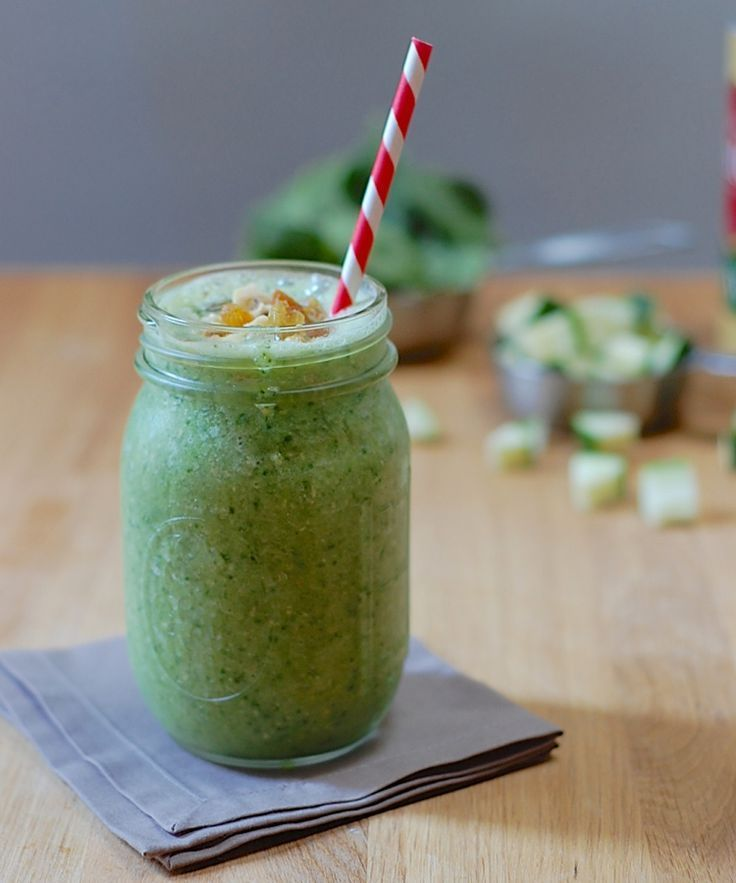 This easy, vegan, gluten-free smoothie tastes just like zucchini bread!