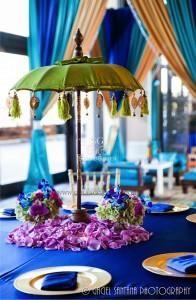 Suhaag Garden, Florida wedding decor and design vendor, Moroccan theme, canopy, tent, umbrella, hookah, lantern