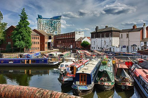 Gas Street Basin & The Cube, Birmingham