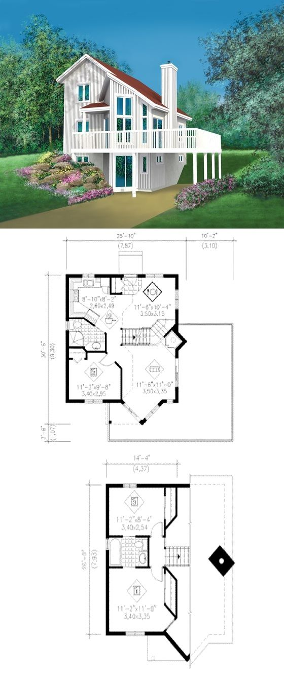 Houseplans #25-2285 :: 993 sq. ft. | Hus | Pinterest | Hus