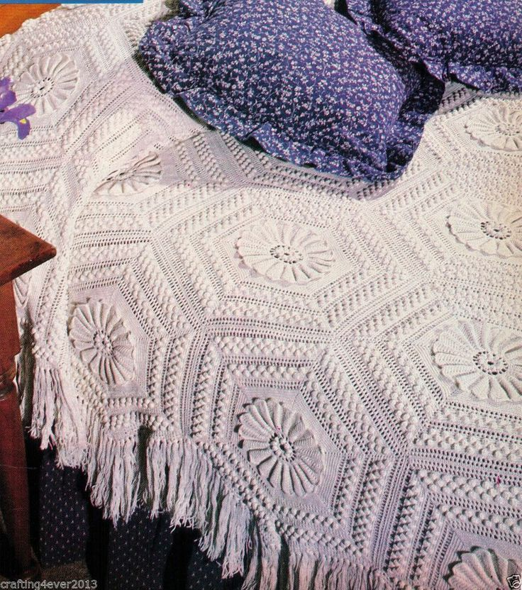 Vintage heirloom water lily bedspread quilt multi size
