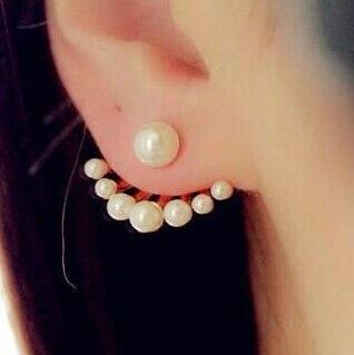 BB14 European and American fashion jewelry exquisite little wild imitation pearl earrings cute Neckband Free Shipping E106