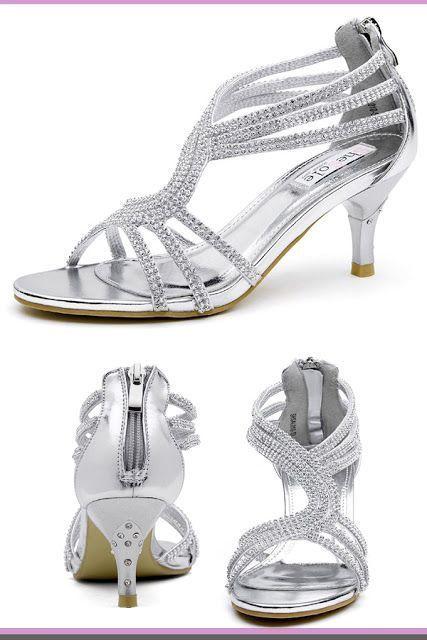 WeddingShoes #wedding #WomensFashion silver wedding shoes
