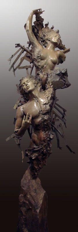"Ira Reines, Eternal All, bronze, 110"" H x 36"" W x 32"" D #homesbyjohnburke #gtaHOMES4u2  @GTAHomes4U"