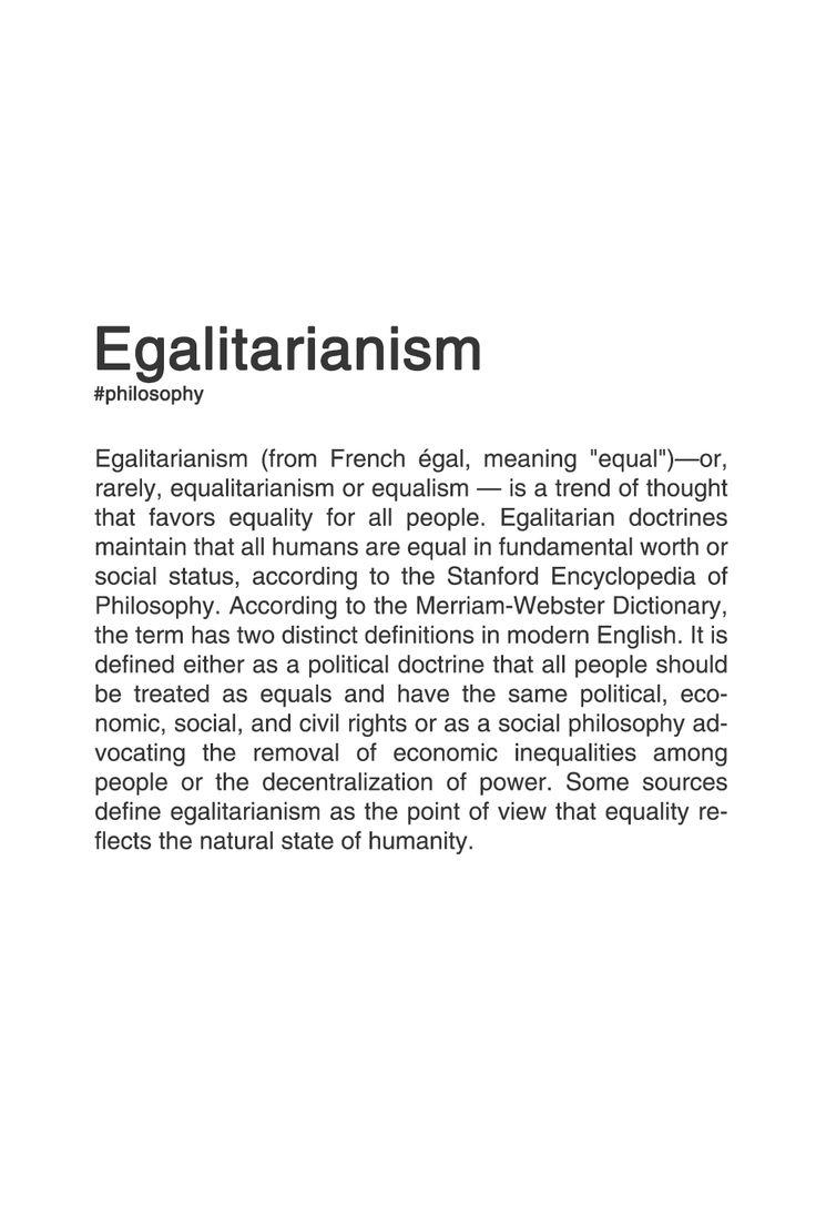 Egalitarianism [src]