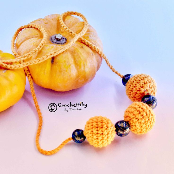 Let's start this day with something bright and orange! For example look at this pumpkin necklace. Vintage beads, soft crocheted balls and orange mood!  Necklace 'Orange mood' Yarn: 100% cotton. Fill: non-allergenic, polyester fiberfill. Vintage beads. Chain is approx 67 cm. $20  Shipping is available. Please contact Natali at crochettiky@gmail.com or visit http://crochettiky.com if you have any queries or would like a work commissioned.