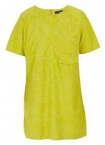 Mock Suede Dress Yellow