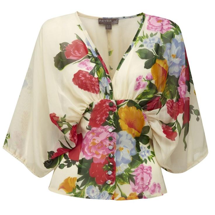 shabby chic...Cezanne Blouse Cream: Blouses, Fashion, Cezanne Floral, Style, Fever Cezanne, Bold Print, Chic Cezanne Blouse, Fever Designs