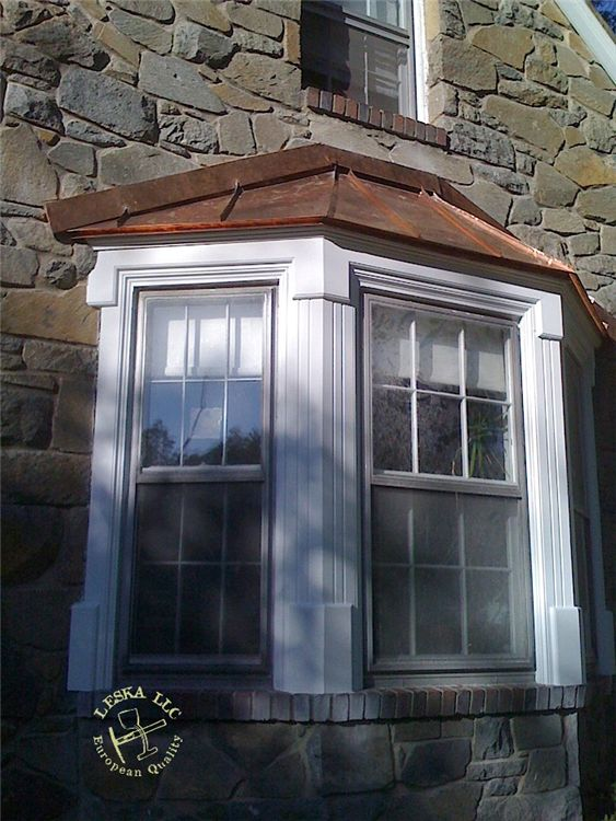 Copper Roofing Over Bay Windows | Completed Copper Roof On Bay Window In  Silver Spring MD