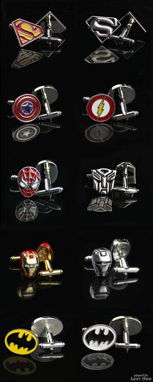 Cufflinks for your super hero!