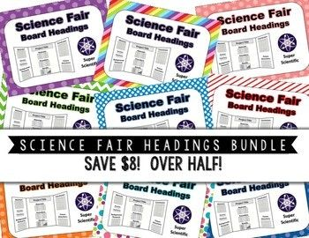 science fair project printable headings