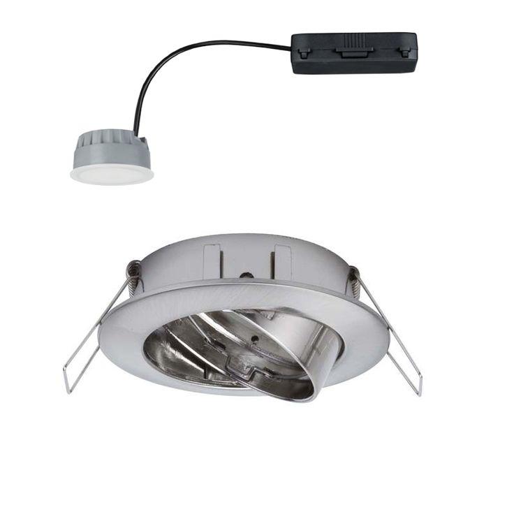 LED-alasvalo 7W teräs pyöreä IP23