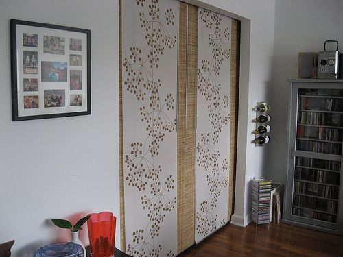 Replace Closet Doors With Ikea Kvartal Sliding Curtain Panels