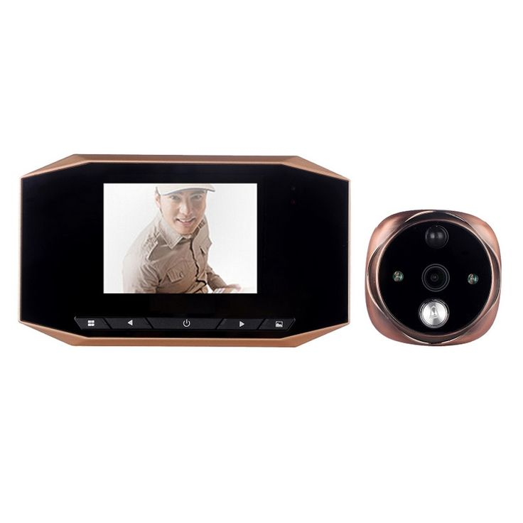 64.99$  Buy here  - 3.5 inch High Definition Digital Peephole Viewer motion detection Door Viewers Camera with IR LED Night Vision video doorbell