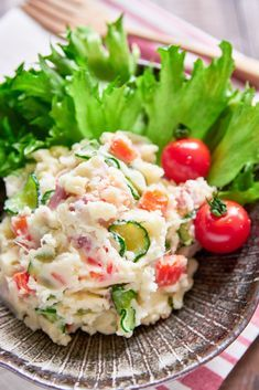 Japanese Potato salad,With sweet carrots, crunchy cucumbers, pungent onions and savory ham, this Japanese-style potato salad is colorful and delicious!