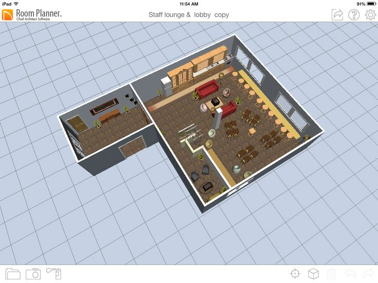 3D view of SIS Staff Lounge floor plan | Gathering spaces for SIS Staff  Lounge Bldg 4 | Pinterest | Staff lounge