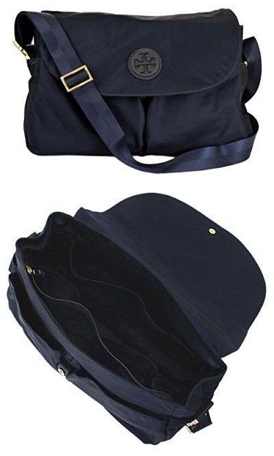 6430a00d8b72 Tory Burch Nylon Messenger Baby Bag Tote Handbag (Tory Navy) 5496 ...