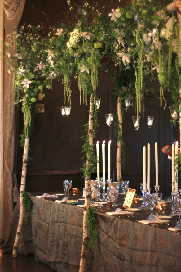 awesome bridal table canopy