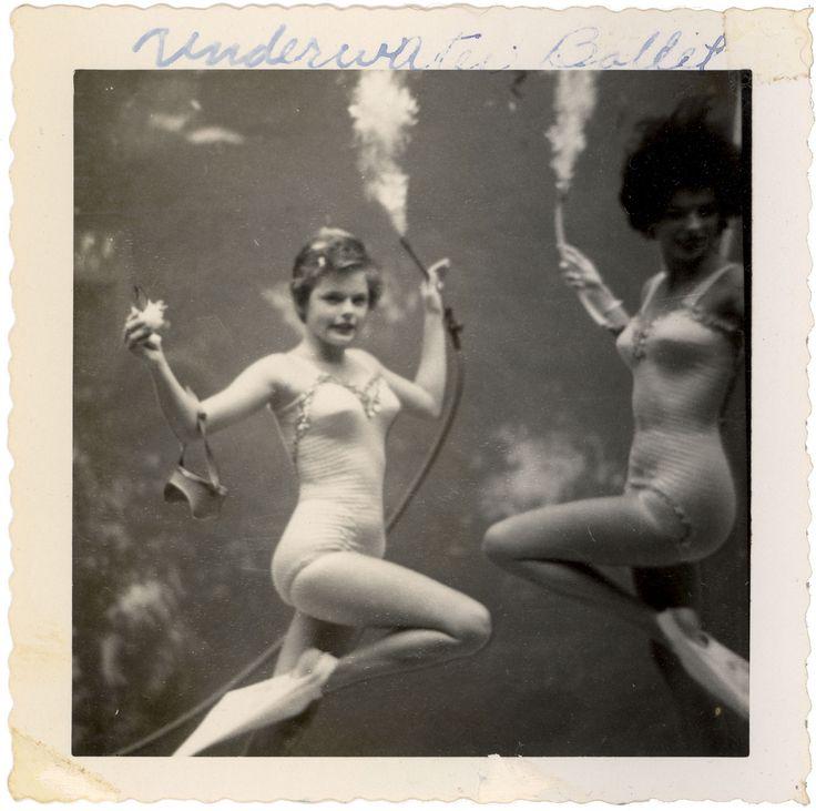Underwater ballet, in the 1950s