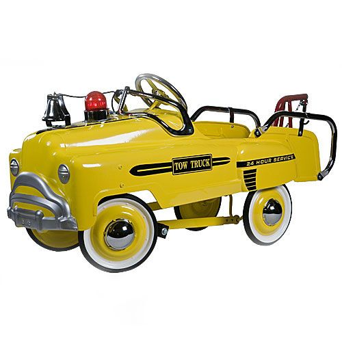 Yellow Deluxe Pedal Tow Truck