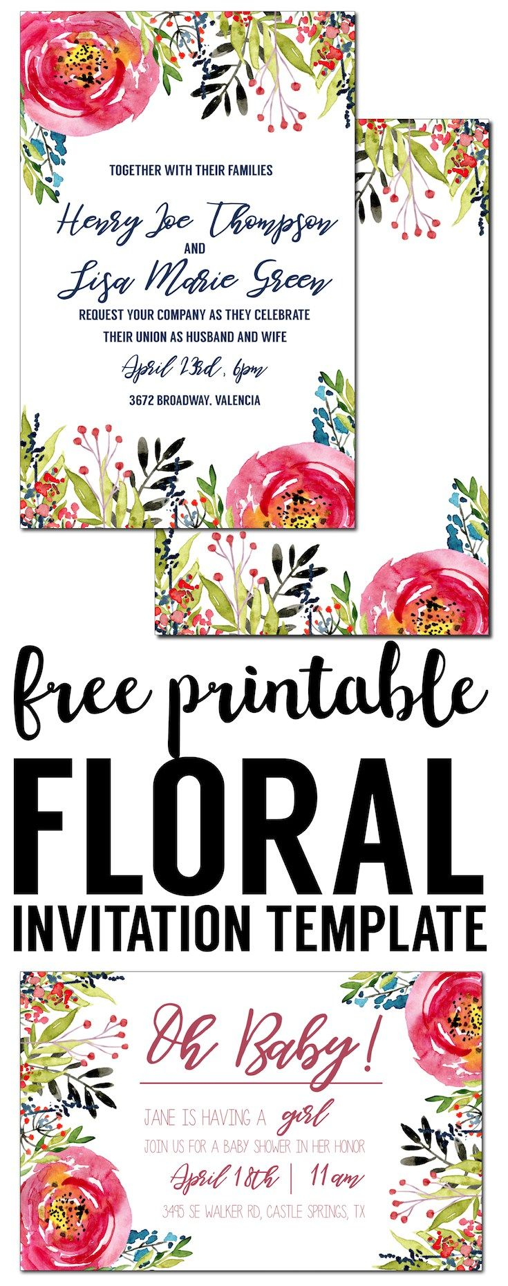 Printable gift vouchers template gift certificate templates free floral invitation template free printable free invitation template for a birthday party wedding yelopaper Image collections