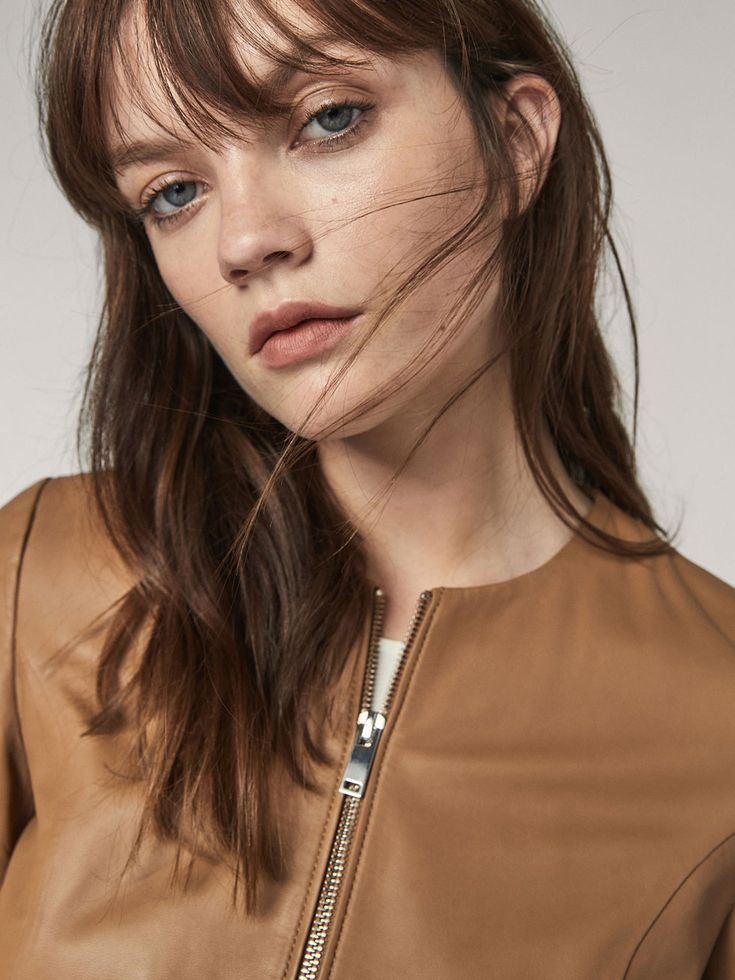 Fall Winter 2017 Women´s NAPPA BOMBER JACKET WITH SMOCKED DETAIL at Massimo Dutti for 149. Effortless elegance!