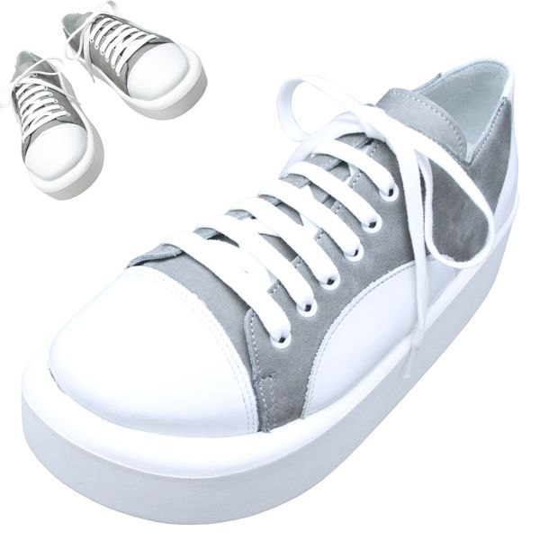 TOKYO BOPPER No.874 /  White & Gray shoes featured on Jzool.com