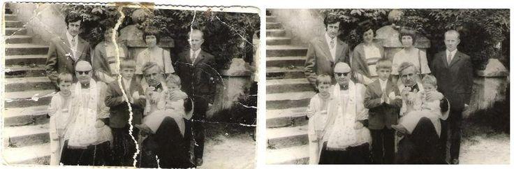 Naprawa starych zniszczonych zdjęć.