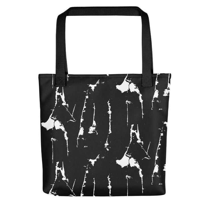 Black and white abstract grunge pattern tote bag by BlackCatCurioCo on Etsy https://www.etsy.com/ca/listing/592021983/black-and-white-abstract-grunge-pattern