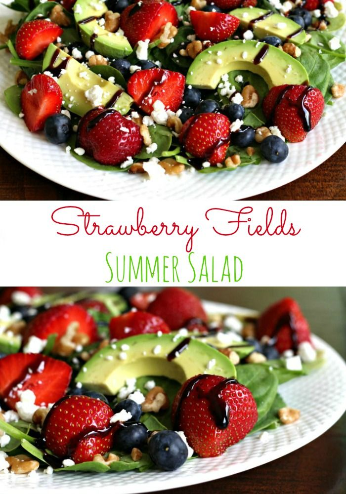Meatless Monday: Strawberry Fields Salad | The Fit Foodie MamaThe Fit Foodie Mama