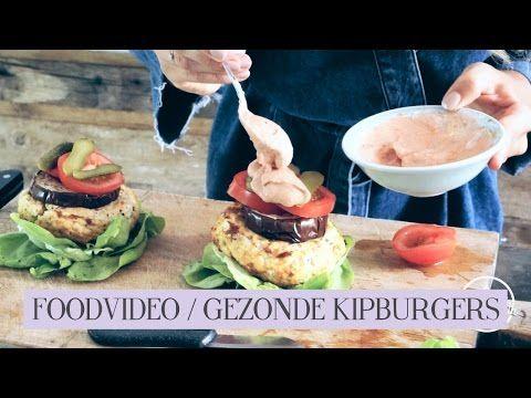 FOODVIDEO / GEZONDE KIPBURGERS - Lisa van Cuijk - YouTube