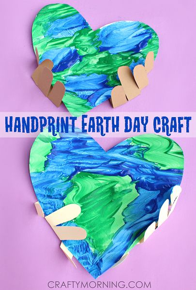 handprint earth - Earth Kid Craft - Earth craft for kids – recycle craft for kids - spring craft - acraftylife.com #preschool #craftsforkids #crafts #kidscraft