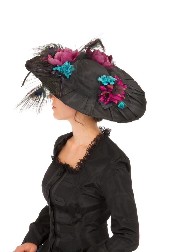 Black Edwardian Pleated Taffeta Hat By Recollections