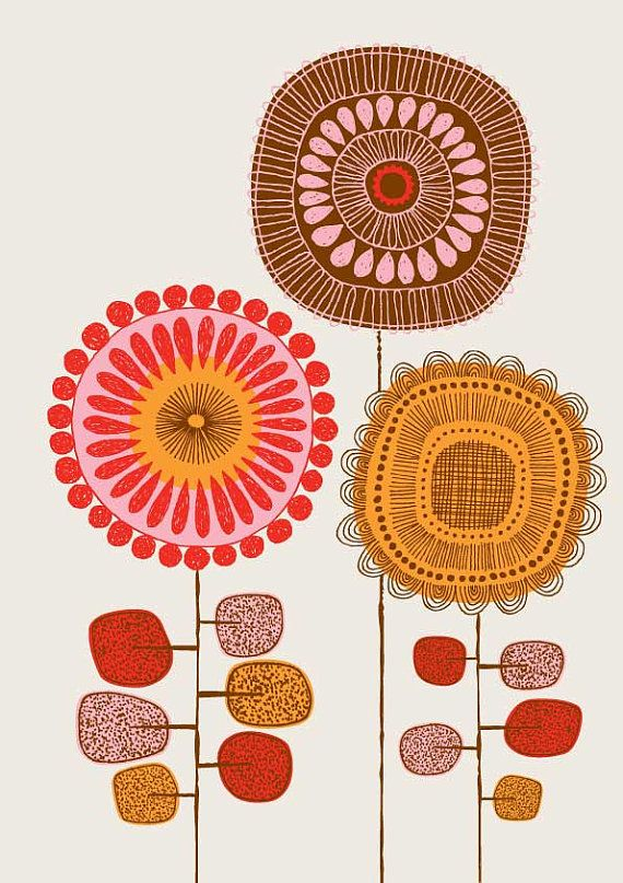 Poster Flowers No2 limited edition giclee print by EloiseRenouf, $25.00