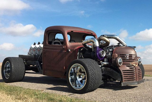 Crazy Backwards Custom Trucks | Video: Introducing A Crazy High Powered Dodge Rat Rod Truck