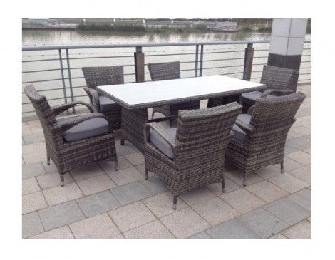 Paradise 6 Seater Rectangle Grey Rattan Garden Furniture Dining Set. 17 best images about Paradise Garden Furniture Rattan Range on
