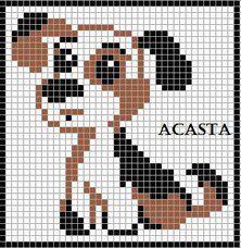 65 best images about hond on Pinterest Perler bead patterns, Punto de cruz ...