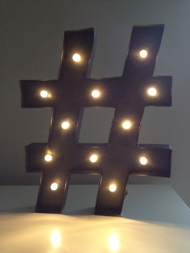 My light up hashtag sign from homegoods my room for Bathroom decor hashtags