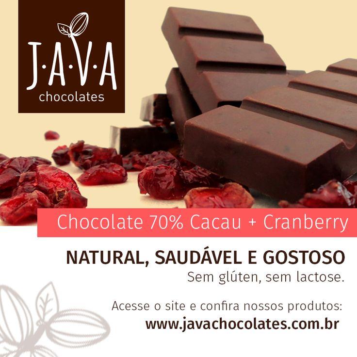 Lançamento!!! Confira em: http://www.javachocolates.com.br/pd-1b7bbc-chocolate-70-cacau-cranberries.html