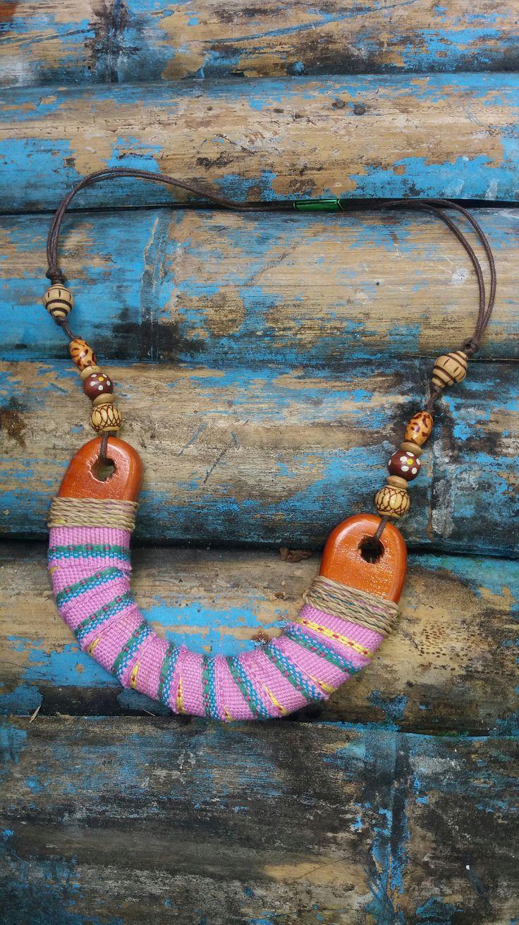 Kalung Tenun Ikat NTT (NTT woven necklace)