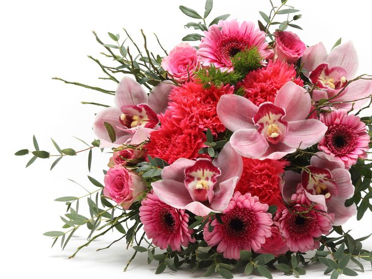 Lenyűgöző pink vegyes virágcsokor    #flowers#bouquet#viragszoro#viragszoroviragkuldes#pink#rose#orchidea#carnation#gerbera