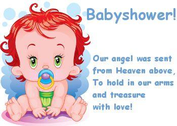 Lieve tekst voor een babyshower op Feest-Plaatjes.nl