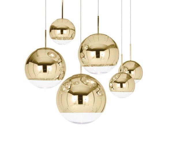 Mijnwohnkultur. Mirror Ball Gold 50 Pendelleuchte von Tom Dixon