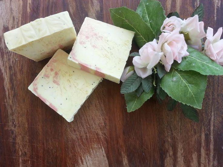 Orange skin handmade soap with poppy seeds!