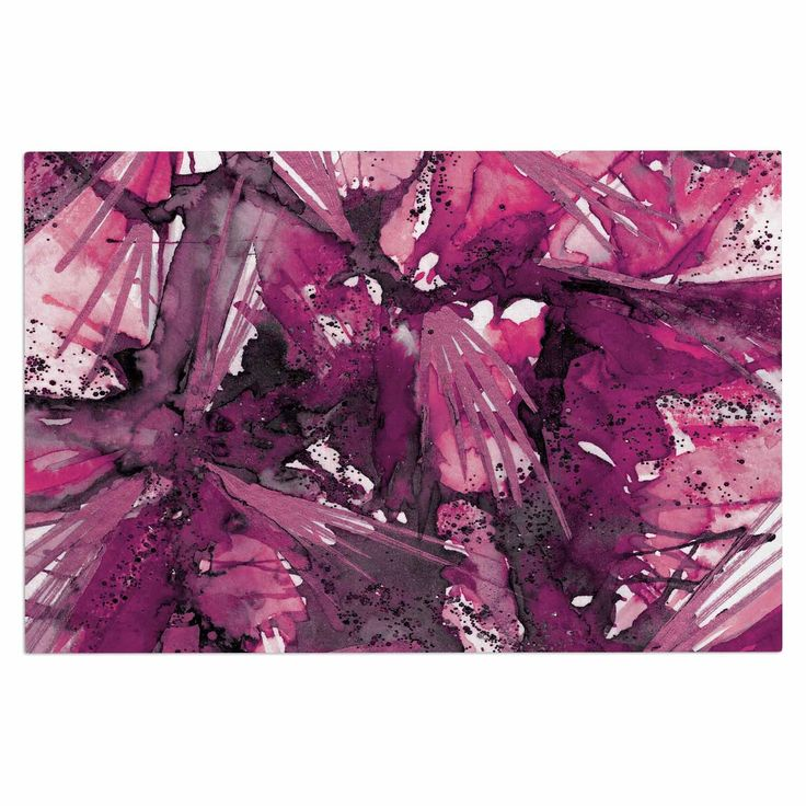 "Ebi Emporium ""Birds Of Prey - Magenta Purple"" Pink Plum Decorative Door Mat"