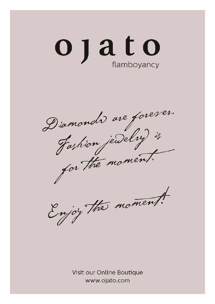 OJATO ist spezialisiert für den Vertrieb von hochwertigem und extravagantem Modeschmuck ausgewählter Designer. Zur Vermarktung ihres Onlineshops gestaltete ich unter Verwendung der bestehenden Corporate Farbe einen elegante Karte, die die Exklusivität der von OJATO vertriebenen Schmuckstücke vermitteln soll.